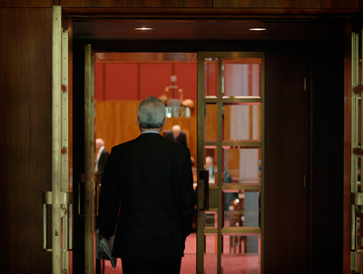 walking into Question Time for the final time