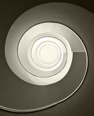 Vertigo (Philipp Klinger Photography) Tags: light white abstract black sepia stairs spiral hotel stairway da leonardo vinci philipp padova terme klinger firstquality abano aplusphoto onlythebestare thegoldendreams dcdead