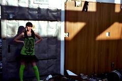 Knockin' (Jason Knight lostlosangeles) Tags: urban fashion mall losangeles model destruction urbandecay strip indie exploration urbex lostlosangeles rachellehcar