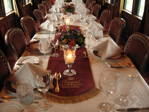 Dining, Royal Canadian Pacific