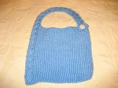Modern Cabled Baby Bib (durandir) Tags: baby knit bibs moderncabledbib