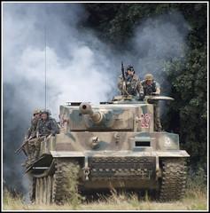 Tiger Tank Assault (rikdom) Tags: show army nikon track tank arms jeep military wwi wwii tracks german armor ww2 vehicle soldiers ww1 armour reenactment reenactors tanks panzer deutsche afv livinghistory tracked warandpeace militaryvehicle armoured warpeace d80 beltring hopfarm