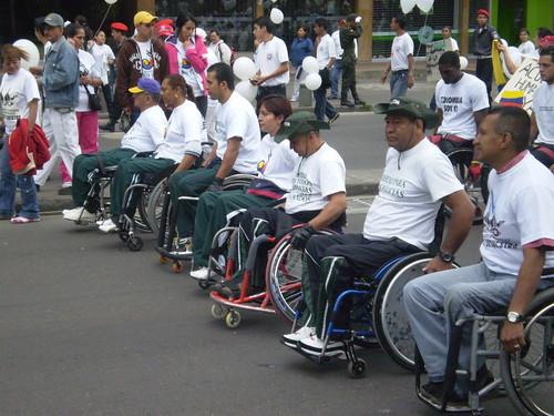Marcha 20 de julio - Policías en silla de ruedas