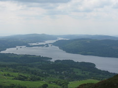 south across lake windermere
