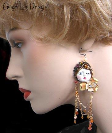 Asymnmetrical Earrings   Ginger Lily Designs