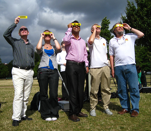 2008 Solar Eclipse: The SPA team in Hyde Park