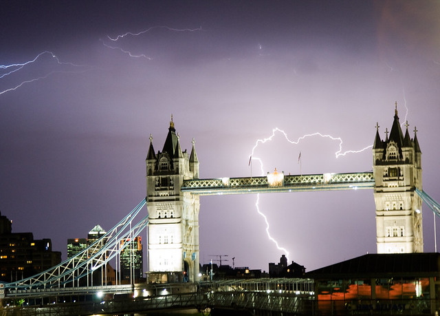 Lightning over Tower Bridge
