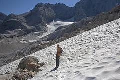 24 Linzersteig looking East, Torstein Eck (2259 m.) (AsianInsights) Tags: alps trekking austria glacier dachstein kleiner hohe gosau schneefeld gosaugletscher linzersteig schneebergwand romanachapman