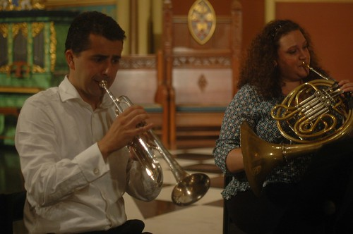 Dorival Puccini, trumpet and Anna Mayne, French horn by you.