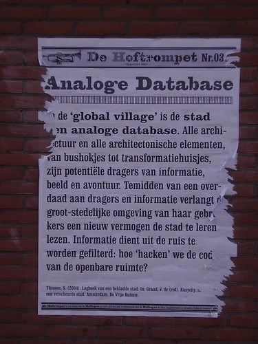 city as an analogue database