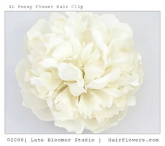 Peony_Flower_Hair_Clip (hairflowers.com) Tags: wedding flower hair cream silk ivory clips magnolia gardenia flowerhairclip flowerforhair bridalflowerhairclip weddingflowerhair gardeniaflowerforhair