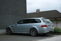 BMW E60 M5 Touring (Miguel Jonckheere) Tags: miguel digital canon logo eos grey break bmw m5 touring kortrijk jonckheere grijs e61 e60 izegem 400d