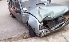 Opel Ascona RIP (1985-2007) (Tilemahos Efthimiadis) Tags: car ascona automobile accident 100views 400views 300views 200views 500views 1985 destroyed 50views 800views 600views 700views opel 1000views hitandrun 900views