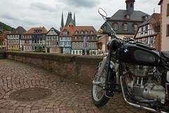 Du liebst ihn nur, weil... (peekm) Tags: germany geotagged deutschland hessen bmw motorcycle gelnhausen halftimbered hesse fachwerk motorrad d40