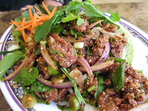 Spicy Raw Beef at Sab E Lee