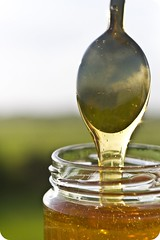 Sweet Relief (Michelle in Ireland) Tags: light golden stream sweet sticky spoon honey liquid dripping pouring drizzling m