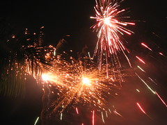 Ganpati Visarjan (Primus D'Mello) Tags: sky people music india color colour festival night canon fun fire lights is dance god religion explosion ganesh rockets mumbai hindu s3 crackers visarjan primus ganpati lalbaug dmello primusdmello