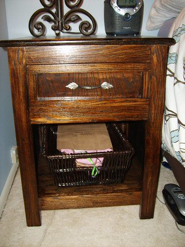 Solid Red Oak Night Stand DIY