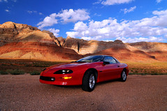 Camera - Camaro - Sandstone and Sky (mbryan777) Tags: blue red arizona nikon highway performance camaro 1993 explore nikkor z28 d300 18200mm lt1 mywinners anawesomeshot theperfectphotographer mbryan777 michaelbryanphotography