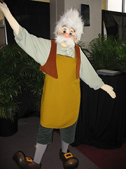 Geppetto (disneylori) Tags: epcot disney disneyworld characters wdw waltdisneyworld geppetto futureworld disneycharacters canonpowershota610 characterconnection nonfacecharacters meetandgreetcharacters pinocchiocharacters