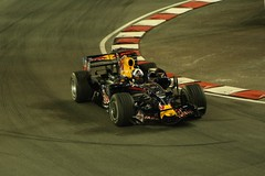 Red Bulls Coultard atTurn 7 Singapore F1