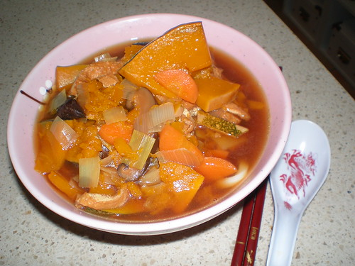 Kabocha Udon Winter Stew