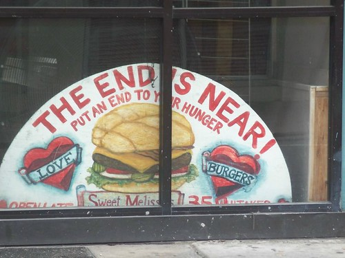 The End is Near sign at Sweet Melissa's, Savannah