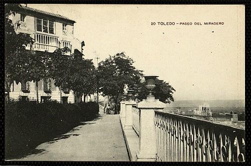 Paseo del Miradero (Toledo). Foto M.H. 1914