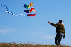 Sailing across the sky (wolfpix) Tags: kite canon play kites recreation kiteflying drachen cerfvolant drachenfliegen cometa cometas cerfsvolants cervovolante berkeleycalifornia canonpowershots3is  flickrchallengegroup cervivolanti cerfvol cometavuelo kitevo cervovolo