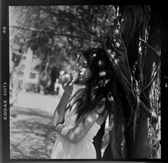 test roll #2 (Celeste) Tags: 120 6x6 tlr film argentina girl beautiful buenosaires buenos aires bn botanico yashica 635 celesteromero