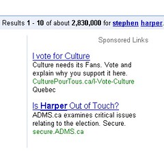 I Vote For Culture Anti-Harper Attack Ads on PPC