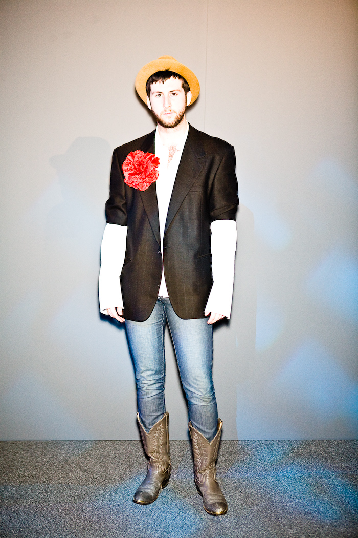 jeans, full length, hat, flower, black jacket, cowboy boots, Toronto, L'Oreal Fashion Week, Photo by Krist Papas/whatsyourpersona.com