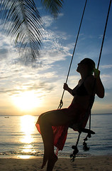 Greetings from Koh Phangan! (papaija2008) Tags: travel blue sunset sky woman beach nature silhouette canon wow thailand salad asia south swing palm powershot east tropical g3 koh phangan backlighting ranta haad keinu thaimaa palmu platinumheartaward earthasia placesyouvisit 4timesasnice 6timesasnice 5timesasnice 7timesasnice