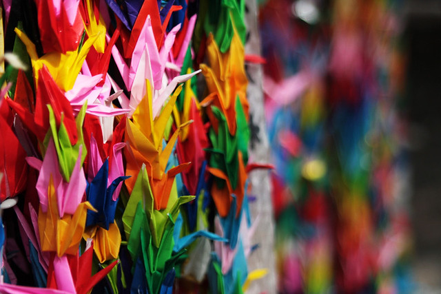 papercranes, eternal flame of peace