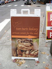 Two Tarts sign