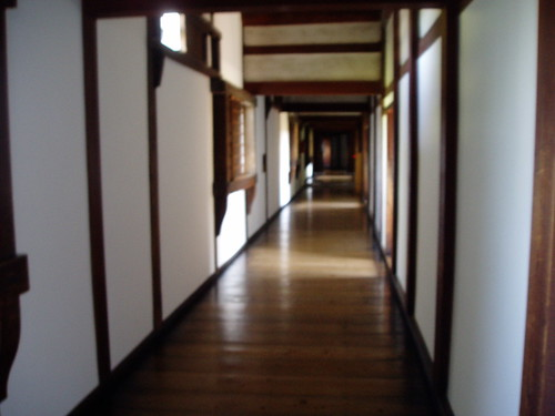 你拍攝的 姬路城的走廊。