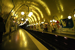 Paris Metro (iancorrigan) Tags: travel paris france yellow underground subway ian metro corrigan