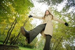 Woman in autumnal park (alexey05) Tags: abstract art attractive autumn background beautiful beauty caucasian cute fall fashion female foliage girl green hair happiness happy head leaf leaves model nature outdoors park people person portrait positive pretty red romantic season smile up white woman yellow young fun wide walk leg boot shoe
