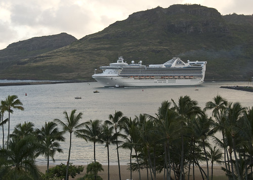 Cruise Ship at Kalapaki Bay -- Nawiliwili Harbor