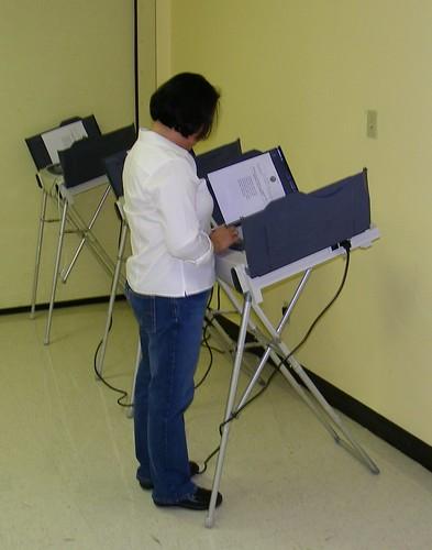 Me voting!