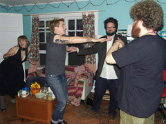 cas busting a move! (stephiblu) Tags: november autumn party guests fun nj montclair 2008 autumnball autumnball2008 tichenortichenors