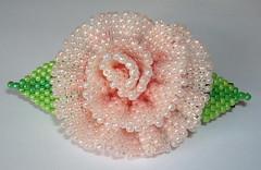 Peach Rose Barrette (fivefootfury) Tags: flower floral rose peachrose barrette peachflower ebwteam rosebarrette