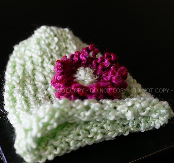 Knit flower hat
