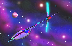 zelyian starship (ArtraccoonEmpire) Tags: anime space scifi spacecraft starship starships