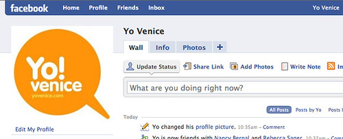 Yo Venice on Facebook