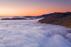 Sunset Above The Clouds (lakedistrict_hill_walker) Tags: winter sunset england clouds lakedistrict hills wrynosepass cloudinversion
