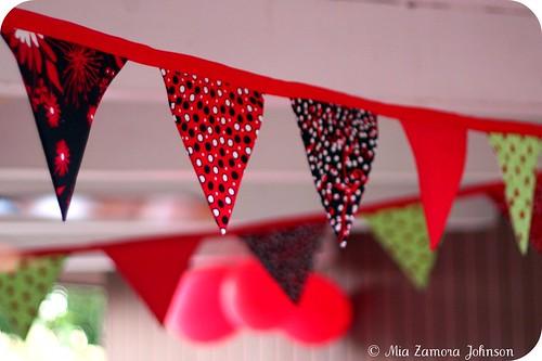 Ladybug party garland