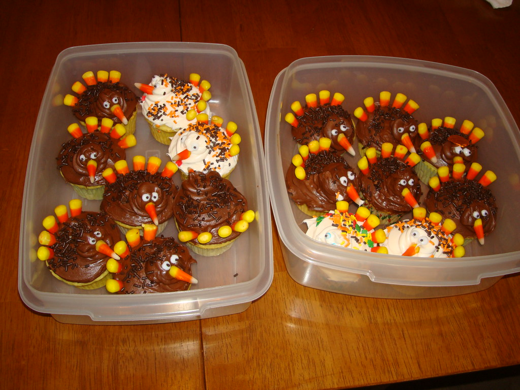 All of the Thanksgiving Turkey Cupcakes