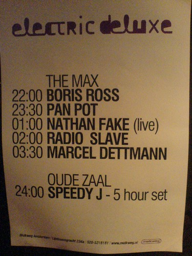 Electric Deluxe poster at Melkweg