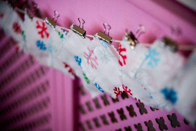 fabric scrap advent calendar